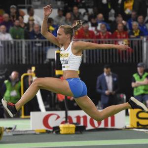Sanna Nygård, inomhus-VM Portland 2016.