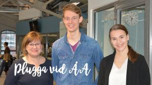 Elina Pirjatanniemi, Patrik Schubert och Jasmine Grönblad
