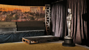 Oscar-patsas studiolavasteissa