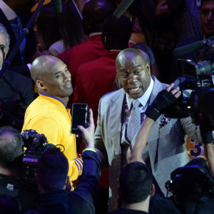 Kobe Bryant och Magic Johnson.
