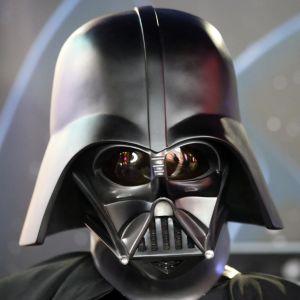 Darth Vader från Star wars-filmerna.