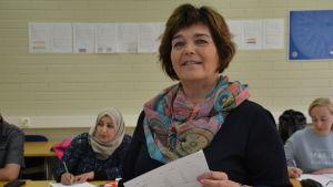 Eeva-Stina Sallmén framför sina elever