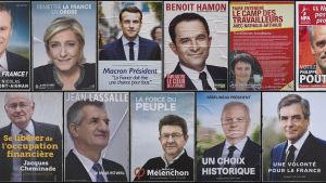 Elva kandidater ställer upp i presidentvalet, men fyra av dem är nästan jämnstarka.