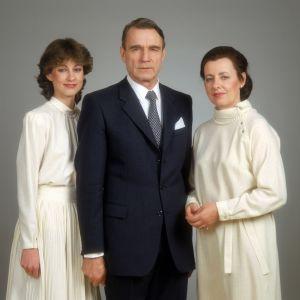 President Mauno Koivisto, hustrun Tellervo och dottern Assi.