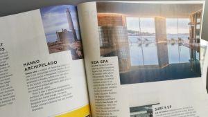 Ett reportage om Hangö i Finnairs kundtidning Blue Wings.