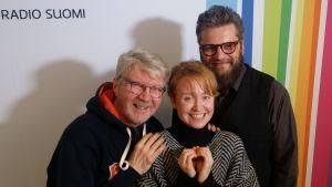 Pirkka-Pekka Petelius, Aino Venna ja Jaakko Heinimäki Levylautakunnassa