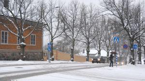 Korsningen av Alexandersgatan och Runebergsgatan i Borgå.