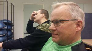 Aarre Arrajoki (närmare kameran) och Mikko Vaittinen.