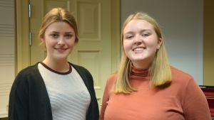 Emma Svensson och Alice Goldstrand från Lund.