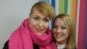 Johanna Försti ja Heidi Pakarinen Levylautakunnassa