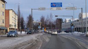 Kållbyvägen i Jakobstad.