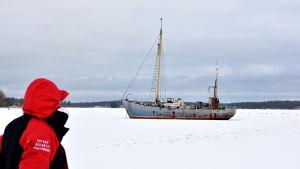 Skrotbåt i Borgå