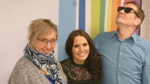 Anne Mattila, Olga Ketonen ja Jami Liukkonen Levylautakunnassa