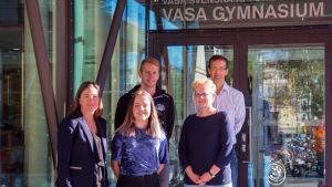 Anne Levonen, Julia Dal, Henrik Wennman, Anki Sandvik och Kenneth Åberg.