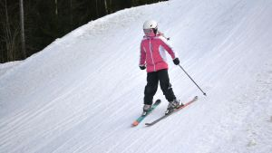 Slalomskidare.