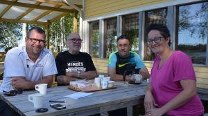 Kaj Holm, Lars Krook, Jens Juthström och Linda Backgren-Holm