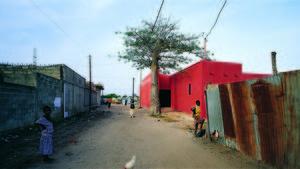 Katunäkymä ja Naisten talo, Rufisque/ Senegal