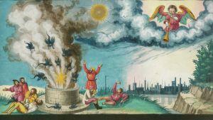 Den yttersta domen, illustration ur ett manuskript från Augsburg.