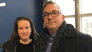 Riitta Nurminen och Leif Holmlund jobbar inom hemvården vid Vasa stad.