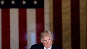 Donald Trump höll ett tal i Capitol Hill på onsdagen 17.1.2018.
