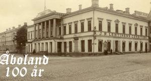 Gammal bild på Åbo Akademis huvudbyggnad.