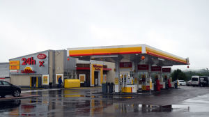 Shell-servicestation i Karis.