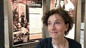 Porträttbild på Ingrid Lomfors, svensk historiker.