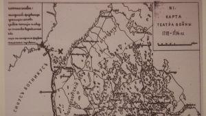 Rysk karta över Kvarkenområdet från Stora ofredens tid