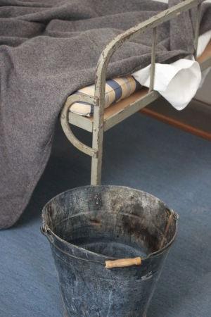 Ämbare var en del av rummens inredning.