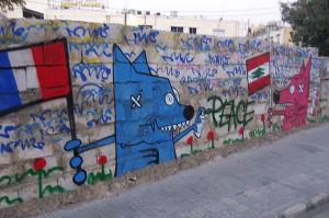 rauha-graffiti beirutissa