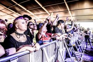 Publik under Kotiteollisuus på Rock fest