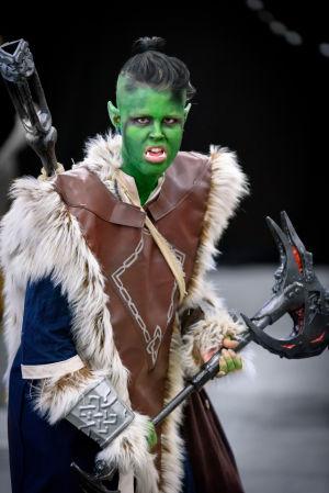 Rilla som en Orc på World Con 75