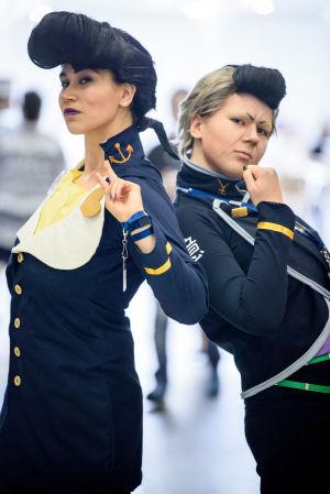Emma Engblom och Mimosa Lehtinen på World Con 75