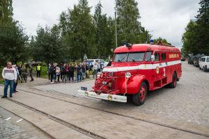 Vetaranbrandbil tillhörande Dragnäsbäck fbk.