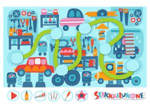 Pikku Kakkonen: Seikkailukone-kartta