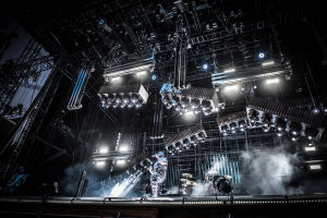 Till Lindeman, sångaren i Rammstein på scenen på Rock Fest