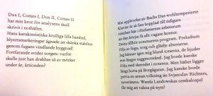 """Uppslag i Tomas Mikael Bäcks diktsamling """"De tysta gatorna""""."""