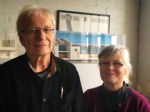 Arkkitehdit Kari Järvinen ja Merja Nieminen.