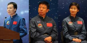 Besättningen på rymdfarkosten Shenzhou-9.