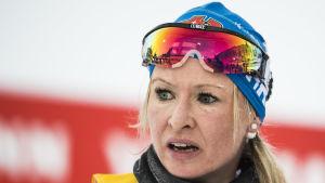Riitta-Liisa Roponen i spåret.