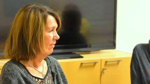 Bild i profil av Anne Öhman, grundtrygghetschef i Ingå.