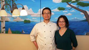 I Takuyo Kawachis målning kan man spåra både finska och japanska motiv.