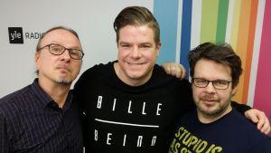 Juha-Pekka Sillanpää, Jussi Heikelä ja Marko Miettinen Levylautakunnassa