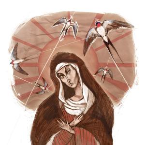 Neitsyt Maria ja pääskyt kansanperinteessä.