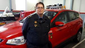 Brandmästare Malin Åminne i Kronoby.