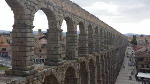 Akvedukti Segoviassa Espanjassa