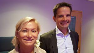 Annika Lindgren och Nils Nyman, barnbarn till Astrid Lindgren. 2016 i Göteborg.