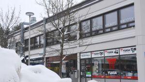 Köpcentret i Vårberga i Borgå