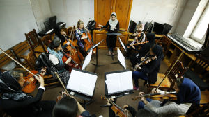 Unga musiker i musikskolan ANIM.