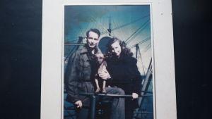 Kapten Allen Zepp med sin hustru Wilma ombord på Park Victory